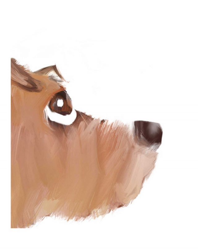 Illustration of guilty dog